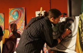 Comedy Club San Diego Live Paint